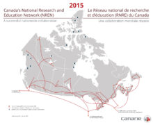 Map of Canada's National Research and Education Network
